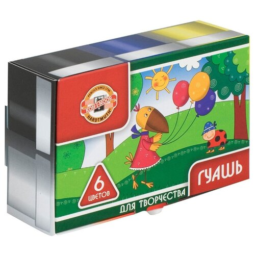 Купить KOH-I-NOOR Гуашь 6 цветов хо 25 мл (FG-KIN-206), Краски