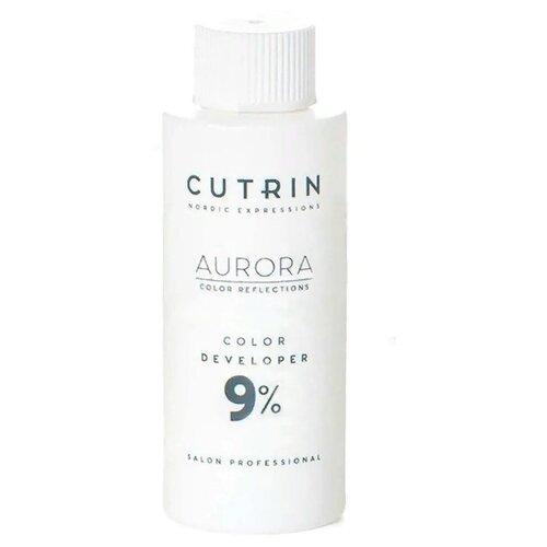 Cutrin Aurora Окисляющая эмульсия, 9%, 60 мл cutrin кутрин краска для волос aurora аврора scc reflection палитра 97 оттенков 60 мл 0 06 платиновый жемчуг