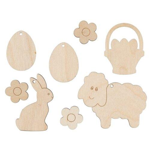 Купить Mr. Carving Набор заготовок для декорирования Овечка ВД-686 (8 шт.) бежевый, Декоративные элементы и материалы