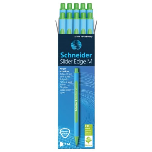 Купить Schneider Набор шариковых ручек Slider Edge M, 1.0 мм, 10 шт, зеленый цвет чернил, Ручки