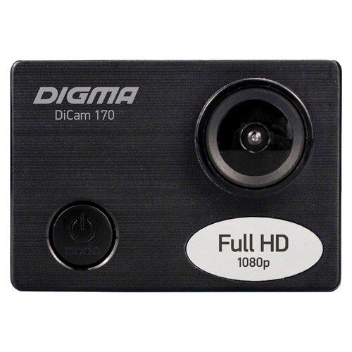 Фото - Экшн-камера DIGMA DiCam 170 черный мини кинотеатр digma dimagic cube черный dm001