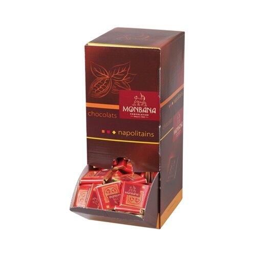 Шоколад Monbana горький с зернами какао 70% порционный в диспенсере, 4 г (200 шт.) коммунарка шоколад горький с клубничным соком 200 г