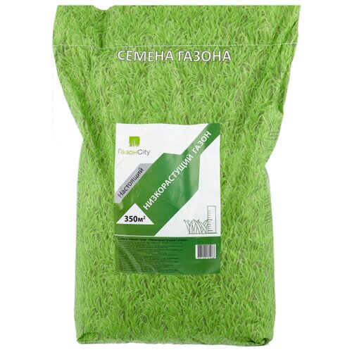 Смесь семян для газона ГазонCity Настоящий Низкорастущий газон, 10 кг