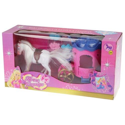 Shantou Gepai карета с лошадкой Horse Carrige (8609) белый/розовый/фиолетовый набор посуды shantou gepai play house b1750458 розовый фиолетовый голубой