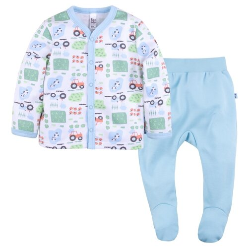 Купить Комплект одежды Bossa Nova размер 74, голубой/белый, Комплекты