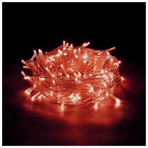 Гирлянда Vegas Бахрома световая постоянное свечение (300 х 60 см), 72 ламп, красный/прозрачный провод недорого