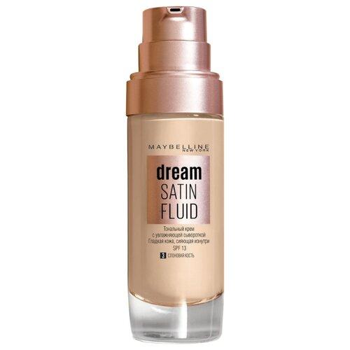 Maybelline Тональный флюид Dream Satin Fluid 30 мл 03, Слоновая костьТональные средства<br>