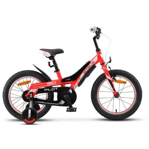 Фото - Детский велосипед STELS Pilot 180 16 V010 (2020) красный 8.5 (требует финальной сборки) горный mtb велосипед stels miss 5000 md 26 v010 2019 бирюзовый 17 требует финальной сборки