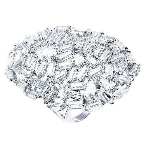 цена на JV Кольцо с фианитами из серебра WR25230-B-001-WG, размер 17