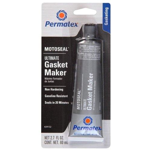 Каучуковый герметик для ремонта автомобиля PERMATEX MotoSeal Ultimate Gasket Maker 29132, 80 мл серый