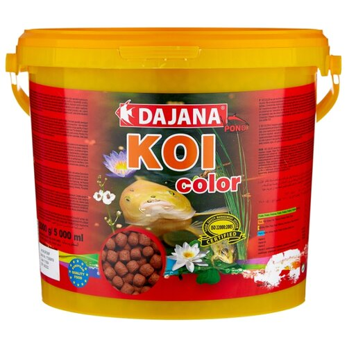 Сухой корм для рыб Dajana Pet Koi Color 5000 мл 2000 г pearl pet dog jewelry necklace random color