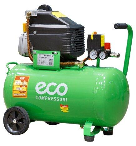 Компрессор масляный Eco AE-501-3, 50 л, 1.8 кВт