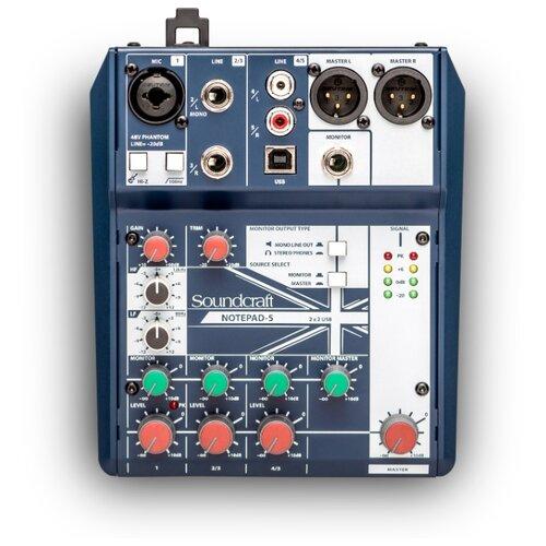 Микшерный пульт Soundcraft Notepad-5 soundcraft soundcraft si madi option card multi mode optical