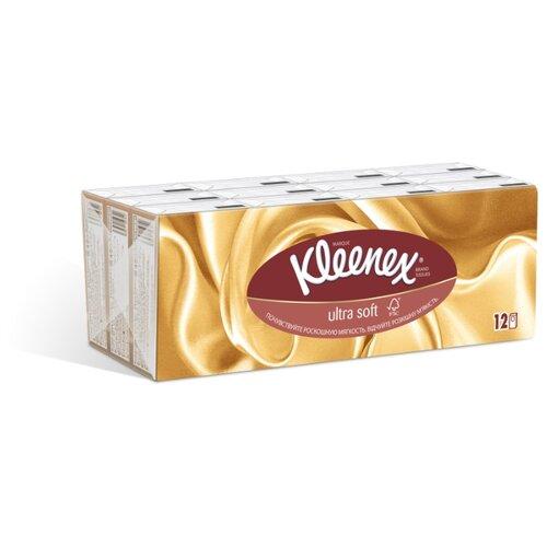 Платочки Kleenex Ultra soft 20 х 20 см, 12 пачек