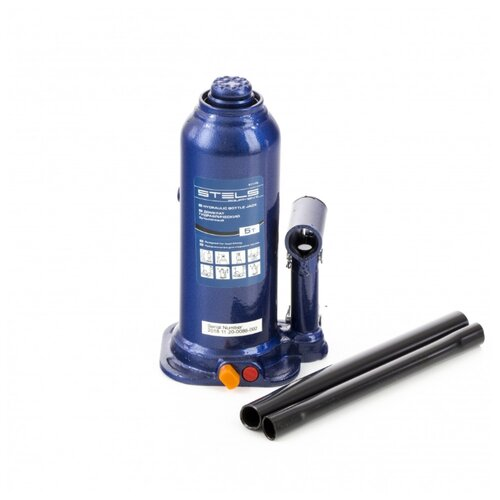 Домкрат бутылочный гидравлический Stels 51175 (5 т) синий