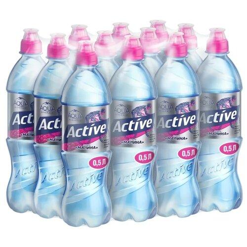 Вода питьевая Aqua Minerale Active негазированная Малина, спорт ПЭТ, 12 шт. по 0.5 л вода питьевая aqua minerale active негазированная цитрус спорт пэт 12 шт по 0 5 л