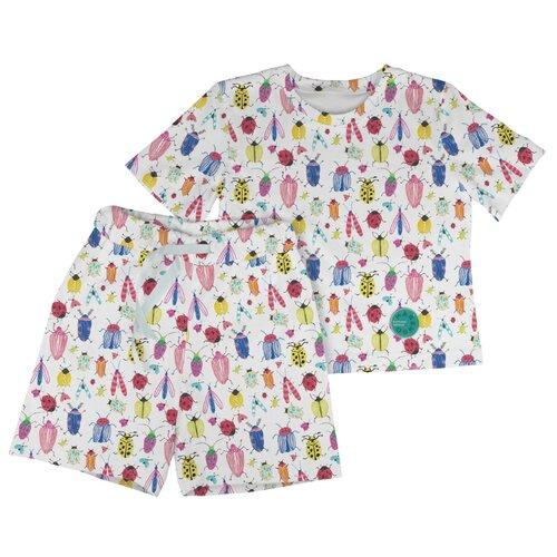 Фото - Пижама Marengo Textile размер 128, белый/розовый/синий пижама marengo textile размер 128 зеленый белый розовый