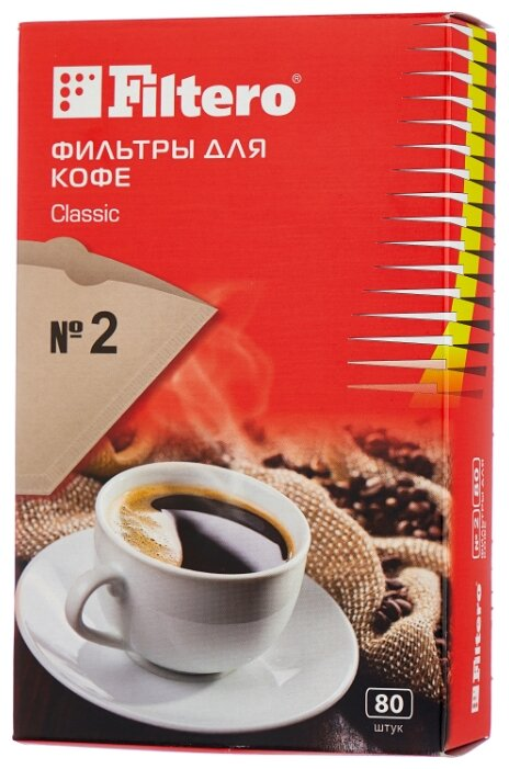 Одноразовые фильтры для капельной кофеварки Filtero Classic