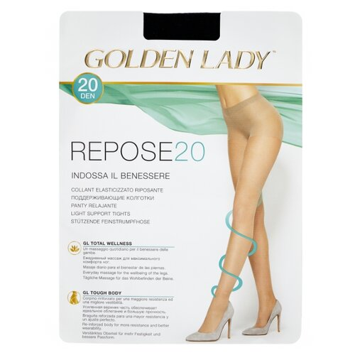 Колготки Golden Lady Repose 20 den, размер 3-M, nero (черный) колготки golden lady ciao 20 den размер 3 m nero черный