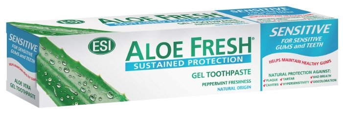 Зубная паста Aloe Fresh гелевая Sensitive Peppermint