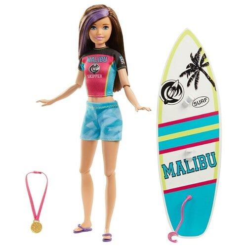 Купить Кукла Barbie Спортивные сестренки Скиппер Серфинг, 28 см, GHK36, Куклы и пупсы