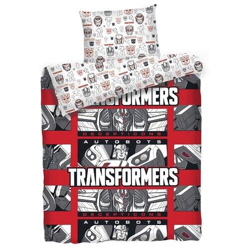 цена на Постельное белье 1.5-спальное Mona Liza Kids Transformers Decepticons, бязь красный/белый