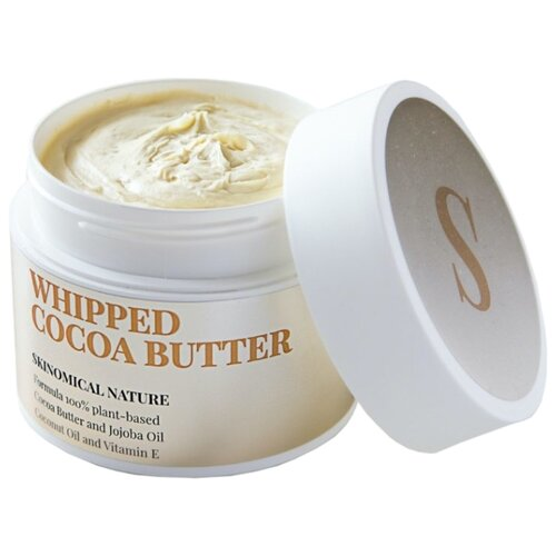 Масло для тела Skinomical Whipped Cocoa Butter какао взбитое, 200 мл ufeelgood organic cocoa premium butter органическое какао масло 200 г