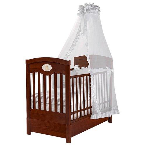 Купить Кроватка Feretti Enchant FMS (классическая), продольный маятник темный орех, Кроватки