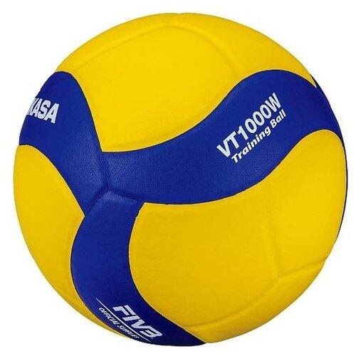 Волейбольный мяч Mikasa VT1000W синий/желтый