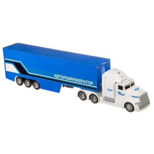 Купить Фура BONDIBON Парк техники Авторефрижератор (ВВ4058) 36 см синий/белый, Машинки и техника