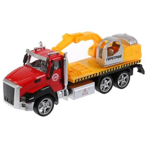 Купить Экскаватор ТЕХНОПАРК 2213-1R3 21 см красный/желтый, Машинки и техника