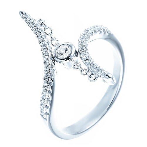 ELEMENT47 Кольцо из серебра 925 пробы с кубическим цирконием ML02362A_KO_001_WG, размер 18.25