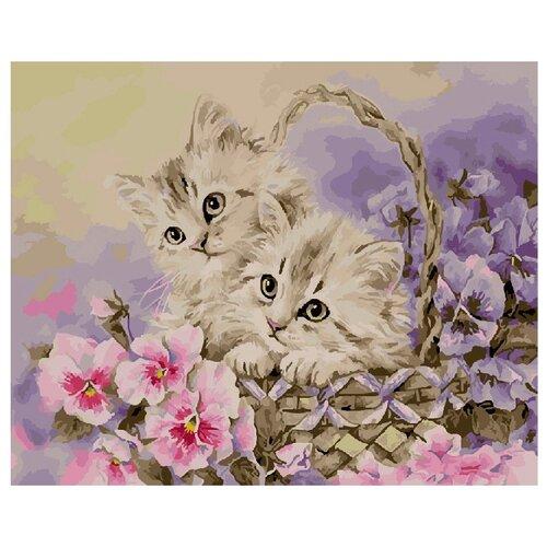 Купить ВанГогВоМне Картина по номерам Котятки , 40х50 (ZX 20639), Картины по номерам и контурам