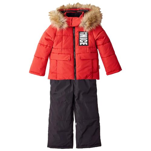 Комплект с полукомбинезоном BOOM! by Orby 90570_BOB размер 98-56-51, красный куртка для девочки boom цвет красный 70329 bog вар 2 размер 98 3 4 года