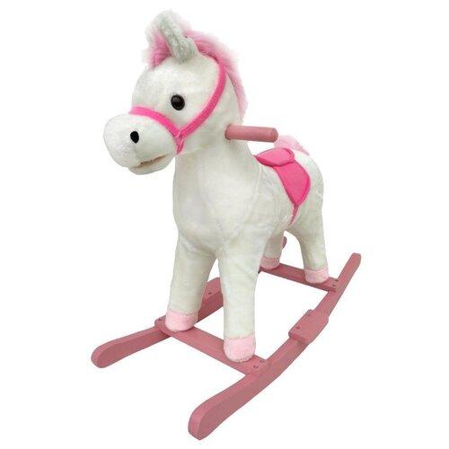 Купить Каталка-качалка Наша игрушка Лошадка WJ-359 белый/розовый, Каталки и качалки