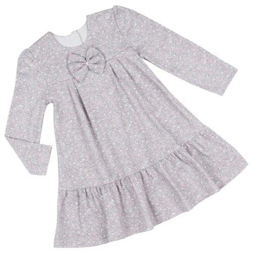 Платье ALENA размер 122-128, серый/розовый