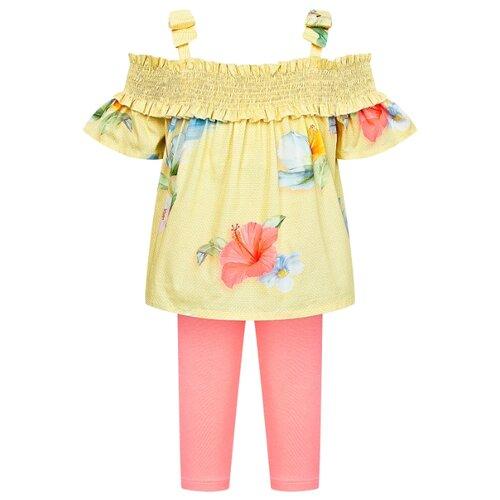 Комплект одежды Lapin House размер 104, желтый/розовый платье lapin house размер 104 разноцветный желтый
