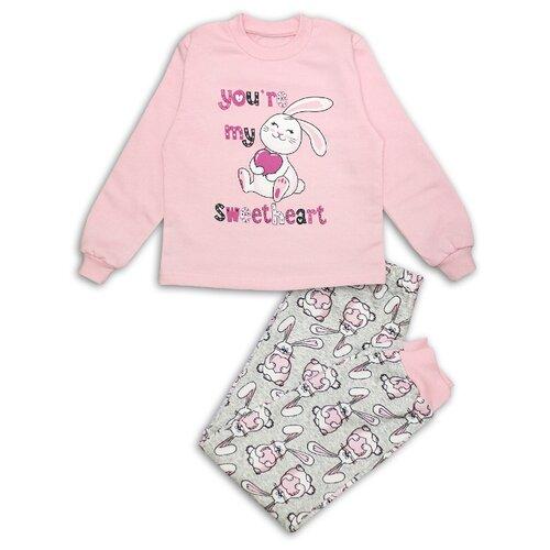 Пижама Веселый Малыш размер 128, розовый пижама веселый малыш размер 104 розовый