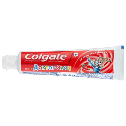 Купить Зубная паста Colgate Доктор Заяц со вкусом клубники 2+, 50 мл, Гигиена полости рта