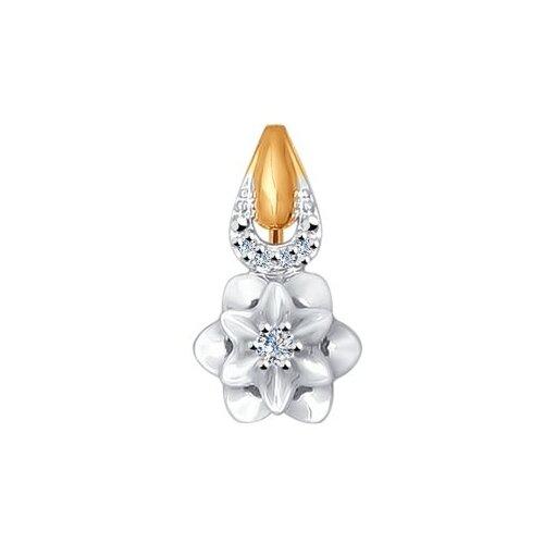 SOKOLOV Подвеска из комбинированного золота с бриллиантами 1030482