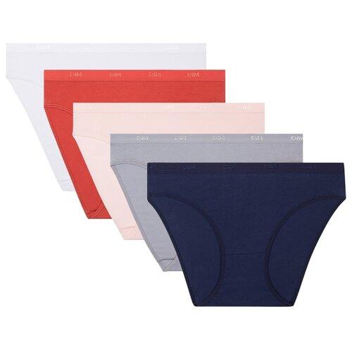 DIM Набор трусов Слипы Les Pockets Ecodim, 5 шт., размер 48/50, синий/серый/розовый/красный/белый цена 2017