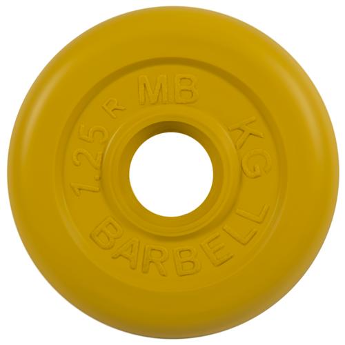 Диск MB Barbell Стандарт MB-PltC26 1.25 кг желтый диск mb barbell стандарт mb pltc26 10 кг зеленый