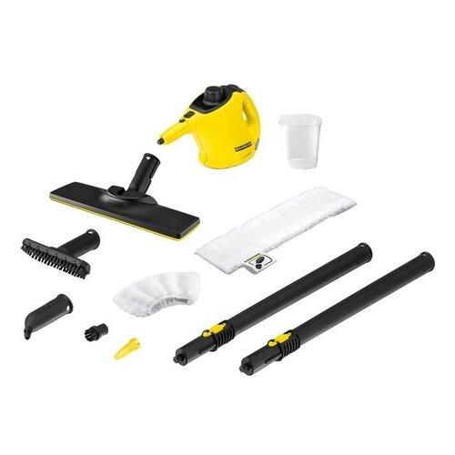 Пароочиститель KARCHER SC 1 EasyFix + латексные перчатки, желтый пароочиститель karcher sc 1 easyfix желтый черный