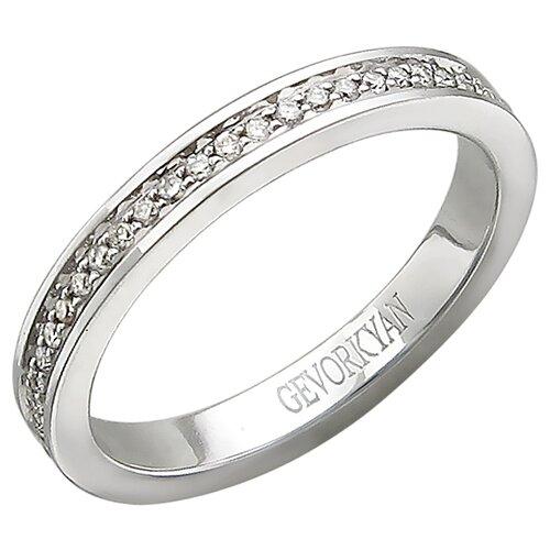 Эстет Кольцо с 52 бриллиантами из белого золота 01О620363, размер 17 ЭСТЕТ