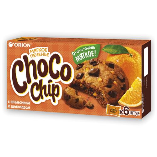 Фото - Печенье Orion Choco Chip с кусочками шоколада и апельсином, 120 г печенье choco boy грибочки 45 г