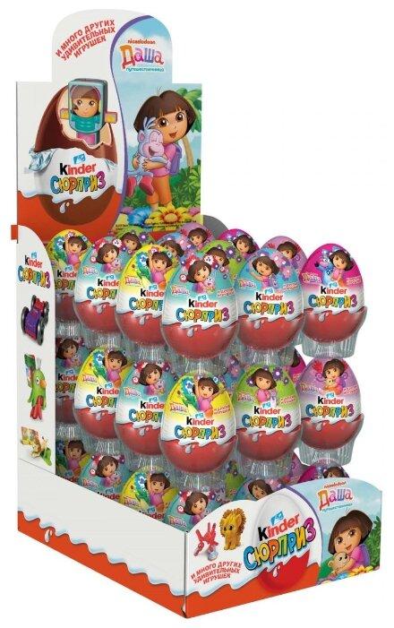 Шоколадное яйцо Kinder Сюрприз, серия Даша-путешественница, коробка