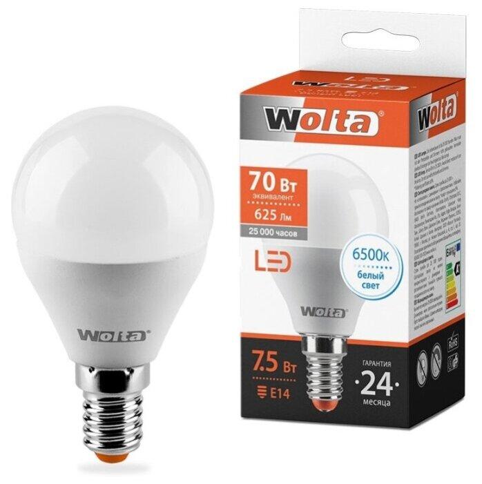 Лампа светодиодная Wolta 25W, E14, G45, 7.5Вт — купить по выгодной цене на Яндекс.Маркете