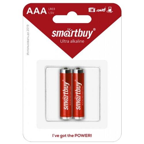Фото - Батарейка SmartBuy AAA LR03 Ultra Alkaline, 2 шт. батарейка smartbuy aa lr6 ultra alkaline 40 шт