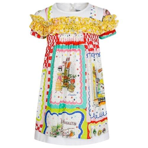 Платье Simonetta размер 92, белый/разноцветный