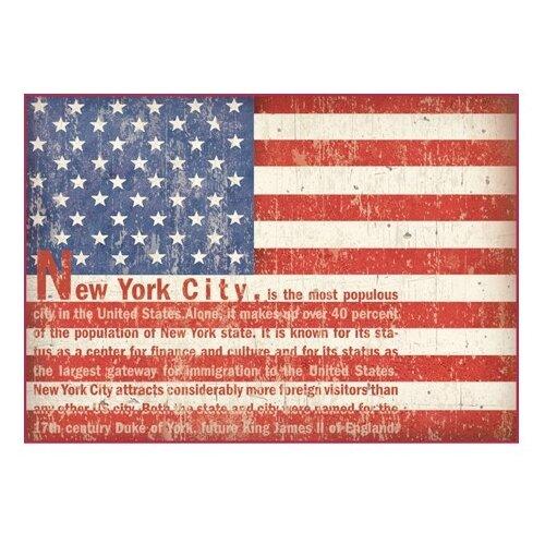 Купить Бумага рисовая мини - формат Флаг США 21 х 29, 7 см (A4) 1 лист, Stamperia, Карты, салфетки, бумага